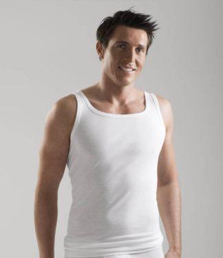 Moške majica na ozke naramnice podaljšana na zadnji strani Bombaž trgovinamacek