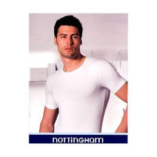 Cotonella in druge znamke Moška majica na okrogu izrez v beli barvi