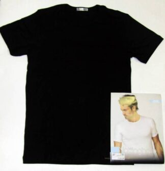 Cotonella in druge znamke Moška majica na okrogu izrez v črni barvi
