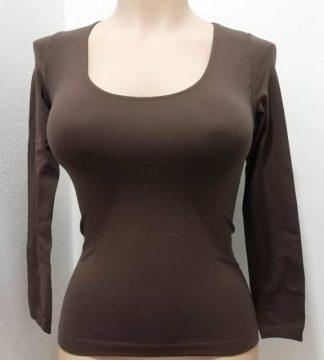 Ženska majica na globok okrogel izrez dolg rokav Zadnji kosi-ugodne cene trgovinamacek