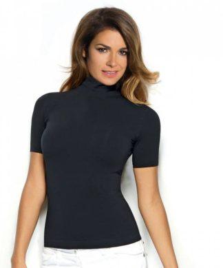 Zadnji kosi-ugodne cene Ženska majica na puli ovratnik kratek rokav