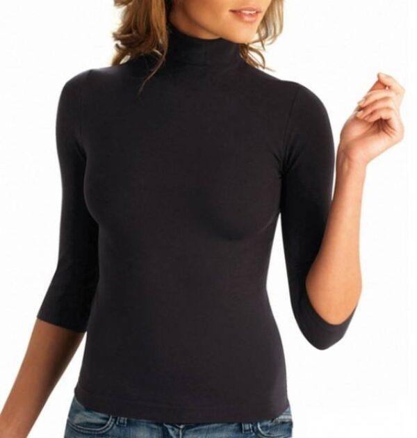 Spodnje majice kratek - dolg - 3/4 rokav in puliji Ženska majica 3/4 rokav na puli ovratnik