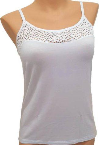 Spodnje majice (kanotirce) ozka naramnica Ženska majica na ozke naramnice s čipko
