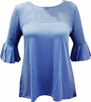 Spodnje majice kratek - dolg - 3/4 rokav in puliji Ženska majica kratek rokav s volančki