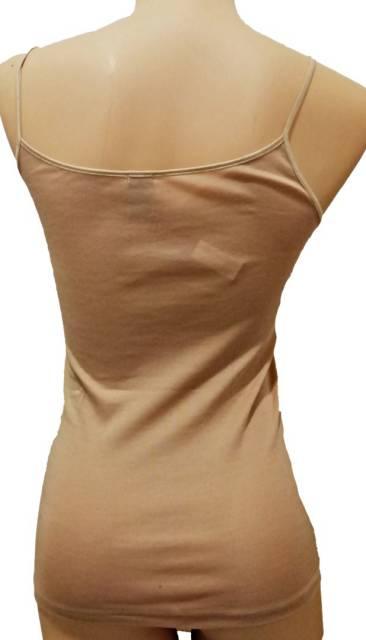 Spodnje majice (kanotirce) ozka naramnica Ženska majica na ozke naramnice iz skotskega sukanca