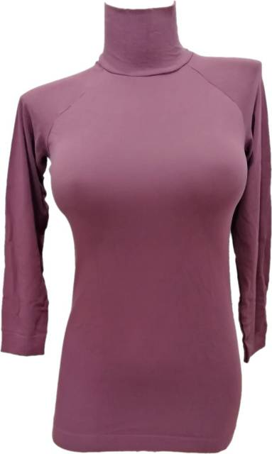 Zadnji kosi-ugodne cene Ženska majica na puli ovratnik iz modala in poliamida