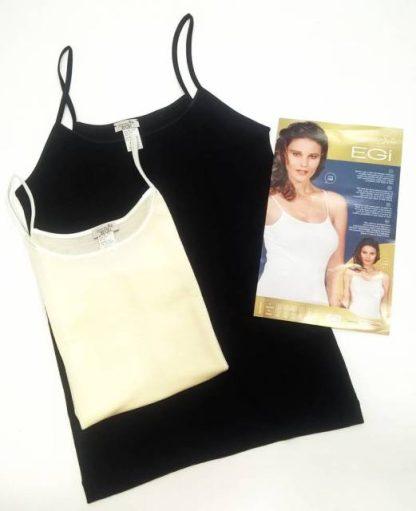 Spodnje perilo iz volne Ženska majica ozke naramnica volna svila