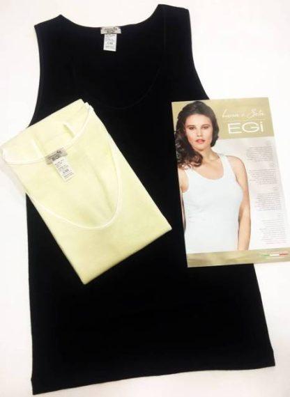 Spodnje perilo iz volne Ženska majica na široke naramnice volna svila