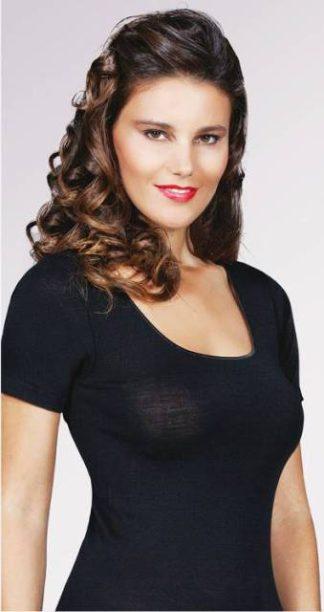 Spodnje perilo iz volne Ženska majica kratek rokav volna svila