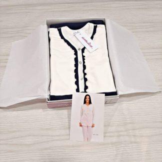 Ženska pižama dolg rokav brez patenta na gumbe Jesen-zima trgovinamacek