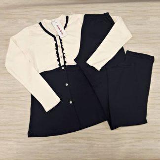 Ženska pižama dolg rokav brez patenta na gumbe Jesen-zima trgovinamacek 2