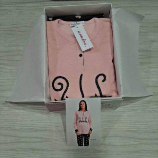 Ženska pižama dolg rokav s patentom toplejša Jesen-zima trgovinamacek