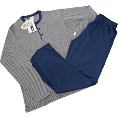 Moška pižama dolg rokav iz tankega bombaža. Moške pižame trgovinamacek 9