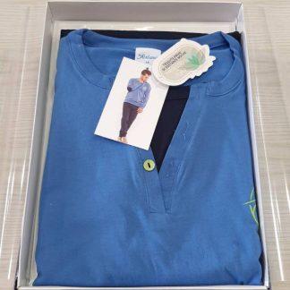 Moška pižama dolg rokav iz tankega bombaža Moške pižame trgovinamacek
