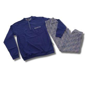 Moška pižama dolg rokav iz toplega bombaža Moške pižame trgovinamacek 2