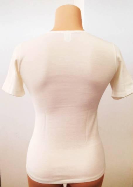 Spodnje perilo iz volne Volnena majica kratek rokav s čipko