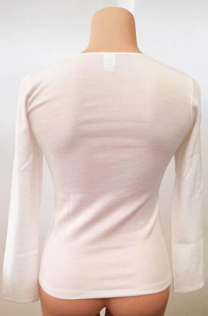 Spodnje perilo iz volne Ženska majica dolg rokav iz mešanice volne in akrila