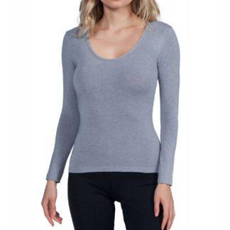 Spodnje majice kratek - dolg - 3/4 rokav in puliji Ženska majica dolg rokav z globljim izrezom