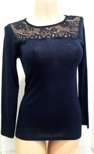 Ženska majica dolg rokav iz mešanice akrila in volne Spodnje perilo iz volne trgovinamacek