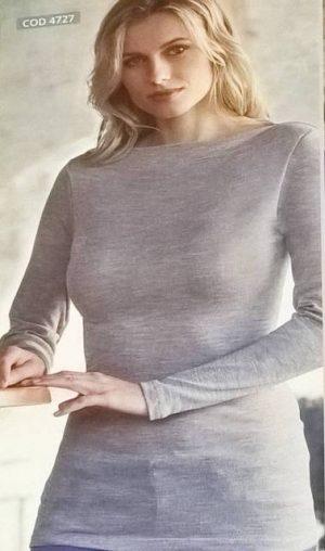 Spodnje majice kratek - dolg - 3/4 rokav in puliji Ženska majica dolg rokav iz mešanice akrila volne in lurexa