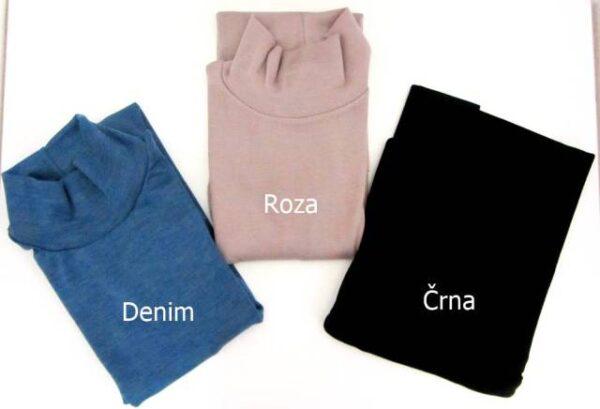Spodnje majice kratek - dolg - 3/4 rokav in puliji Ženska majica polpuli iz  akrila in volne dolg rokav