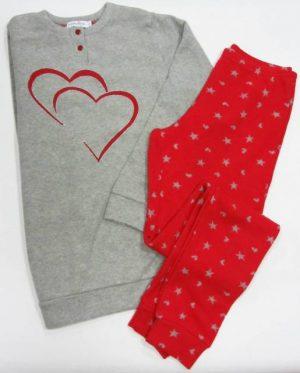 Jesen-zima Ženska pižama okosmatena dolg rokav