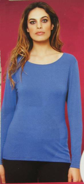 Ženska majica dolg rokav iz mešanice modala in volne Spodnje majice kratek - dolg - 3/4 rokav in puliji trgovinamacek 4
