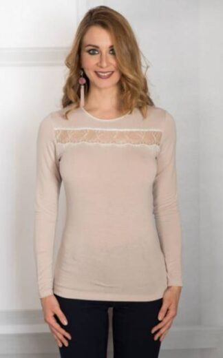 Ženska majica dolg rokav iz modala Spodnje majice kratek - dolg - 3/4 rokav in puliji trgovinamacek