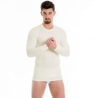 Moško spodnje perilo iz volne Moška majica dolg rokav iz 100% volne