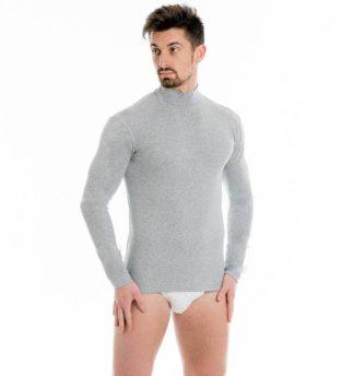 Cotonella in druge znamke Moška majica polpuli dolg rokav iz bombaža in elastana