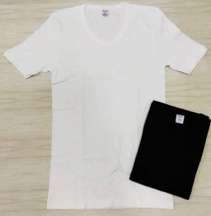 Cotonella in druge znamke Moška majica kratek rokav na V izrez iz 100% bombaža