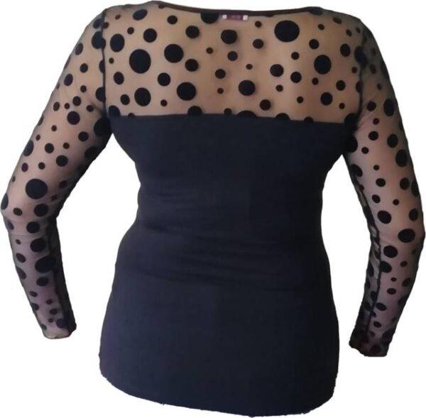 Spodnje majice kratek - dolg - 3/4 rokav in puliji Ženska majica s prozornimi dolgimi rokavi