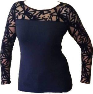 Spodnje majice kratek - dolg - 3/4 rokav in puliji Ženska majica z dolgimi prozornimi rokavi