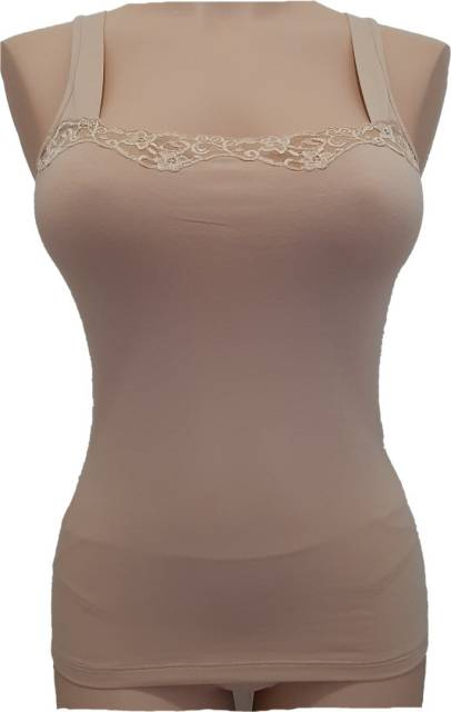 Spodnje majice (kanotirce) široka naramnica Ženska majica siroke naramnice s čipko